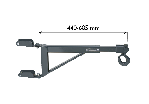 Crane arm for disc brakes, callipers, etc., accessory