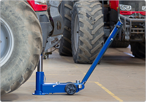 air hydraulic jack for agricultural and contractors