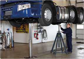 Axle stand for exceptionally high lifts