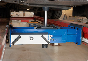 Standard air hydraulic single ram jacking beam with high speed ram travel