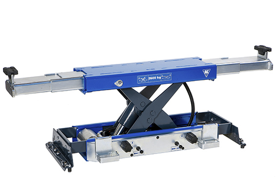 Automatic air hydraulic jacking beam