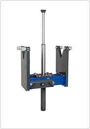 Telescopic air hydraulic pit jack