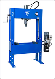 Electro-hydraulic press for truck workshops and industry