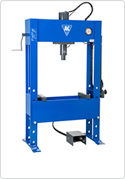 Hand hydraulic press for truck workshops and industry