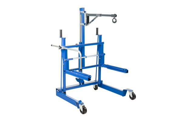 Hydraulic wheel trolley for vans, trucks and buses