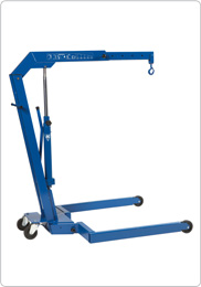 Hydraulic workshop crane with parallel legs for pallets
