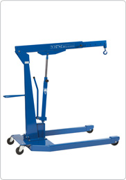 Hydraulic workshop crane for auto workshops and industry