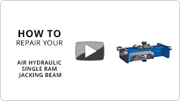 Video How to repair your air hydraulic single ram jacking beam