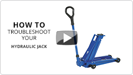 Video Troubleshooting your hydraulic jack