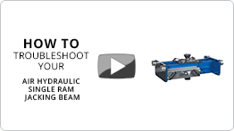 Video Troubleshooting your air hydraulic single ram jacking beam
