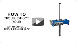 Video Troubleshooting your air hydraulic single ram pit jack