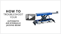 Video Troubleshooting your automatic air hydraulic jacking beams