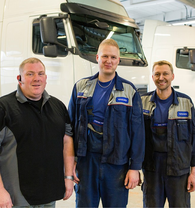 Volvo Truck - Inground Lift