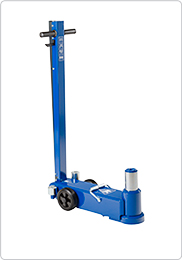 Single stage air hydraulic jack for heavy plant machinery and trucks