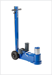 Air hydraulic jack for heavy contractors' machinery