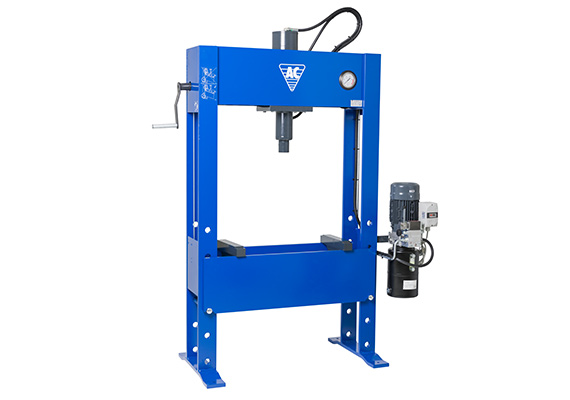 Electro-hydraulic press for truck workshops and heavy industry