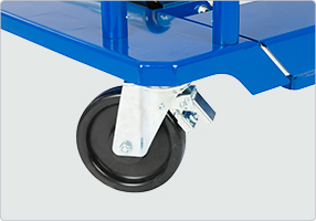 ratchet strap secures the unbolted wheel in place to give maximum safety