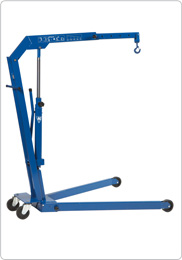 Hydraulic workshop crane for auto workshops and service vans