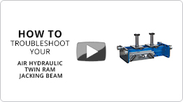 Video Troubleshooting your Air hydraulic twin ram jacking beam