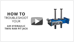 Video Troubleshooting your Air hydraulic twin ram pit jack