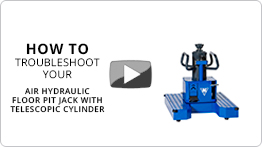 Video Troubleshooting your air hydraulic floor pit jack