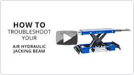 Video Troubleshooting your air hydraulic jacking beam