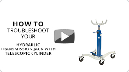 Video Troubleshooting your hydraulic telescopic transmission jack VLT12